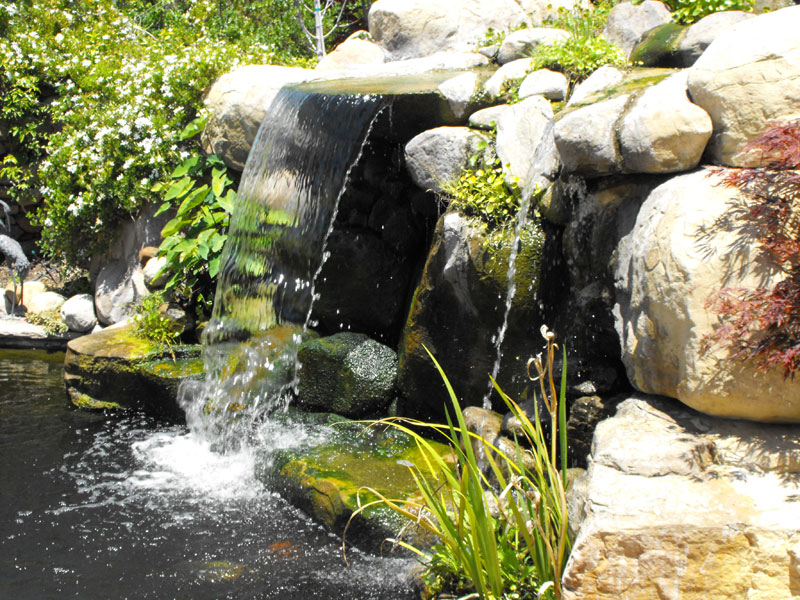 artificial rock mixed with naturals - Artificial Rock Garcia Rock And Water Design Blog