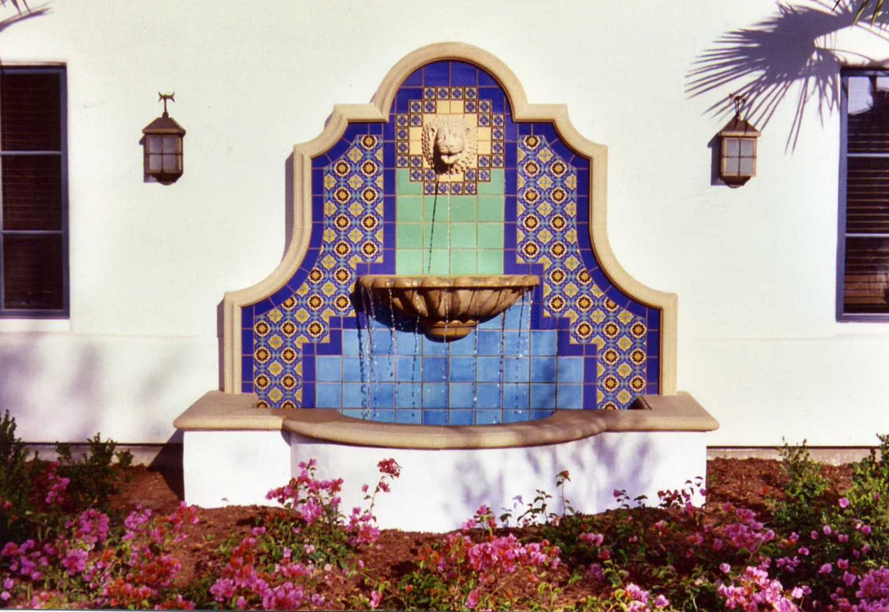 Captivating A Nicely Tiled Fountain