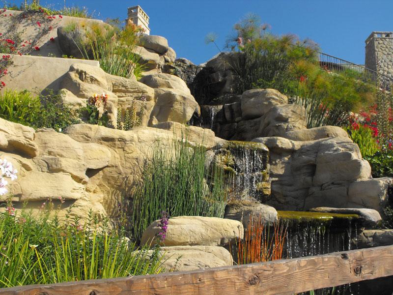 Artificial stone waterfall garcia rock and water design blog for Artificial waterfalls design