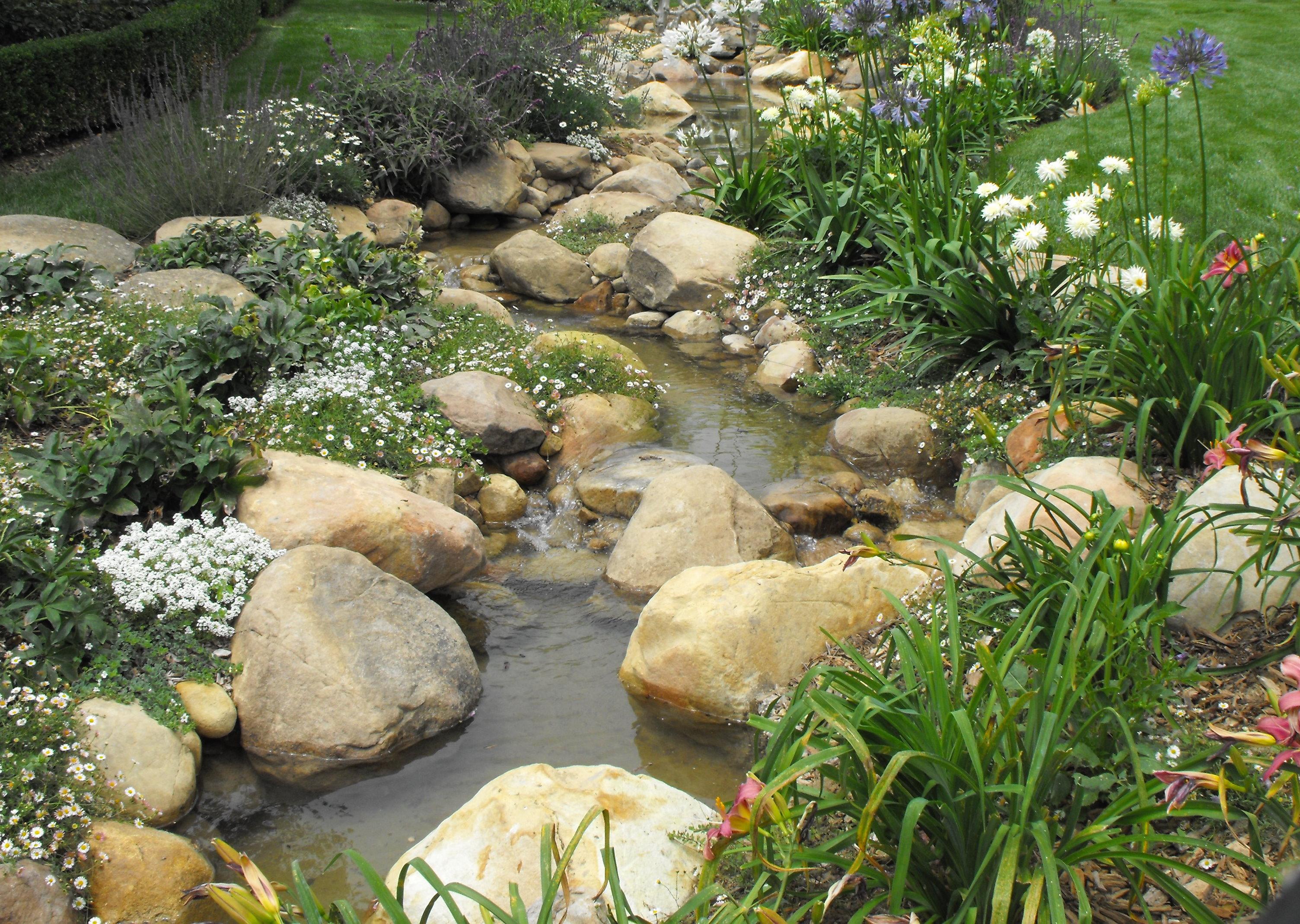 Santa barbara creeks and streams garcia rock and water for Garden stream designs