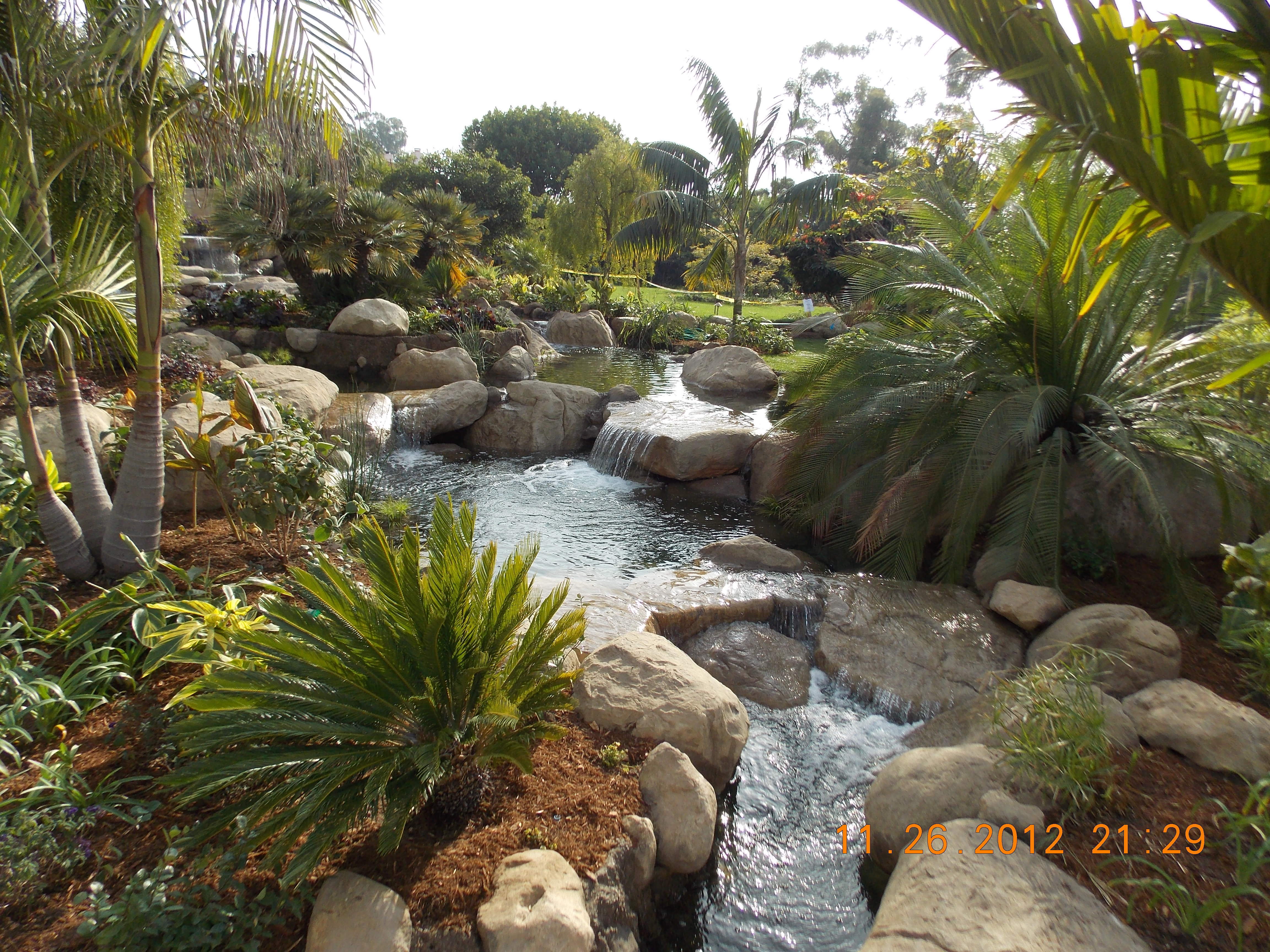 Tropical gardens santa barbara garcia rock and water for Tropical garden design