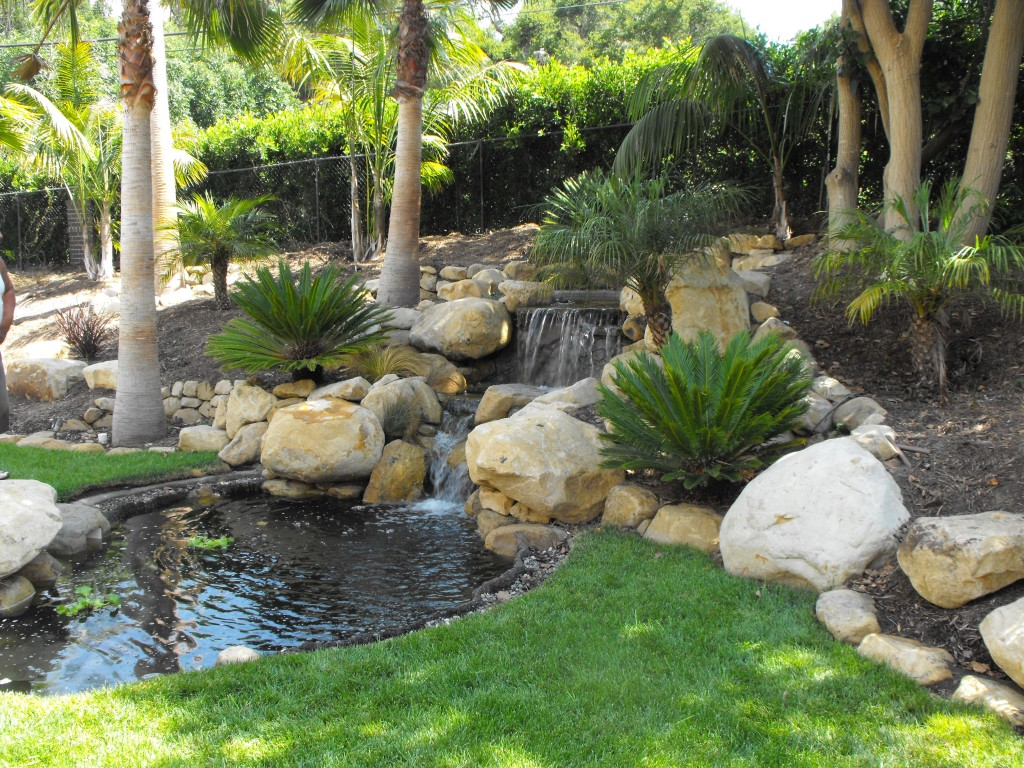 Small garden ponds in santa barbara garcia rock and for Koi pond water