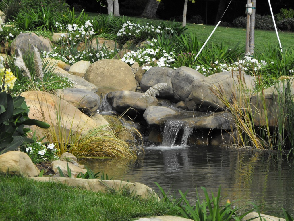 Garcia rock and water design blog for Small pond waterfall