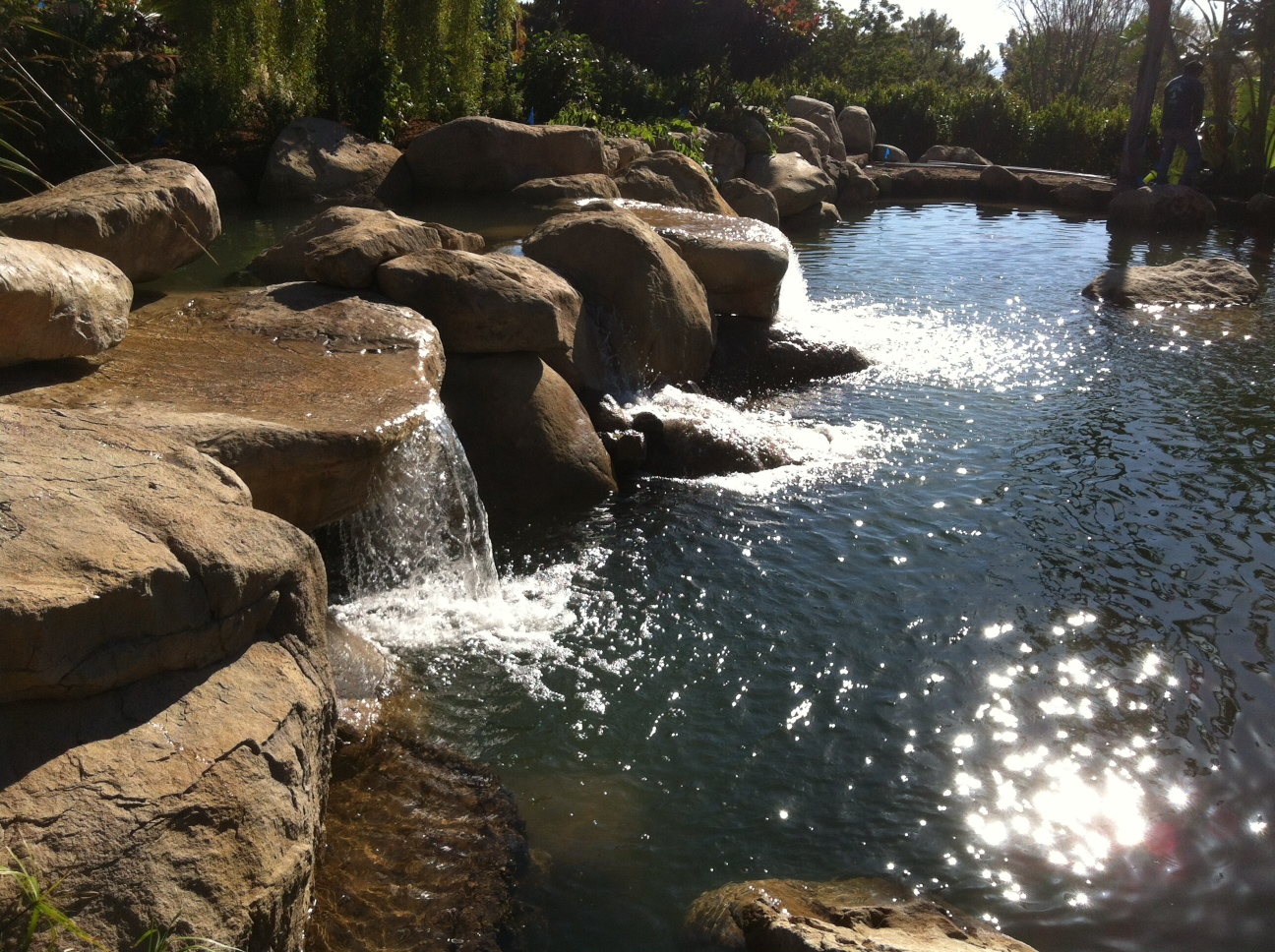 Santa barbara koi pond garcia rock and water design blog for Stone koi pond