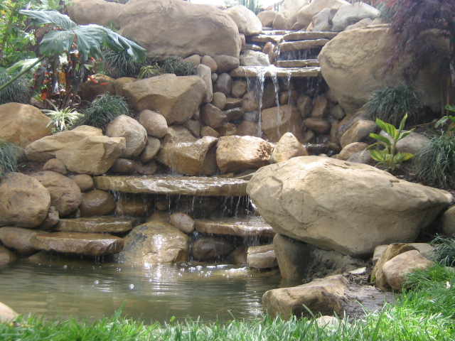 Small Waterfall And Pond In Santa Barbara